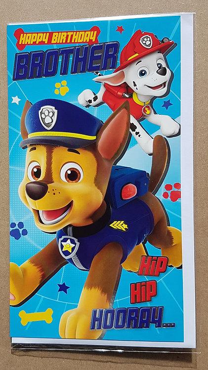 Brother Birthday Card - Paw Patrol