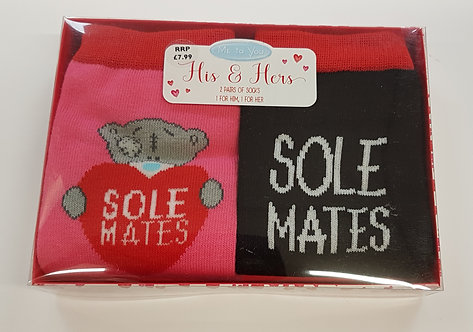 Valentine's His & Her Socks - Me to You