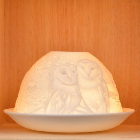 Nordic Light Candle Shade With Owls