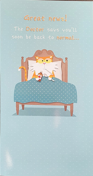 Get Well Soon Humour Greeting Card