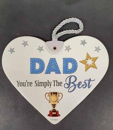 Ceramic Heart Plaque - DAD