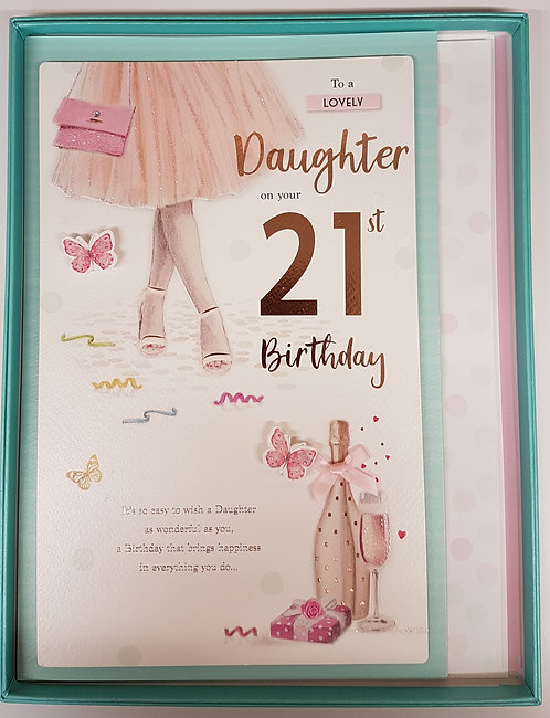 Daughter 21st Birthday Boxed Card