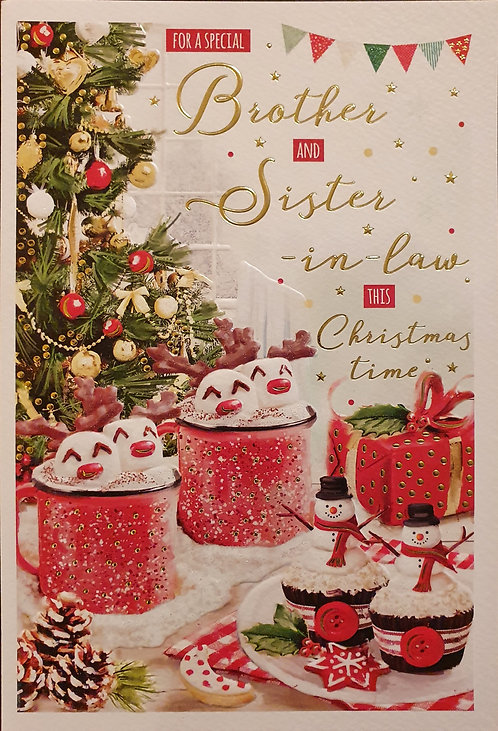 Brother and Sister-in-Law Christmas Greeting Card