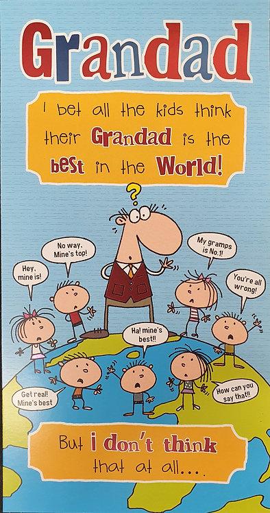 Grandad Humour Birthday Greeting Card