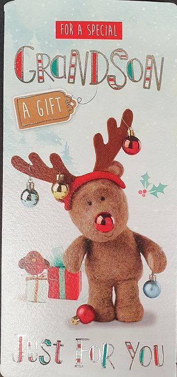 Christmas Money Wallet Barley Bear - Grandson