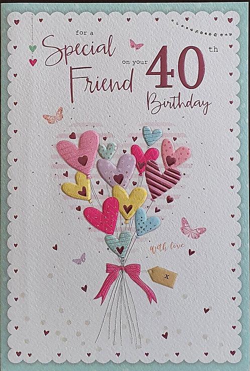 40th Female Friend Birthday Card