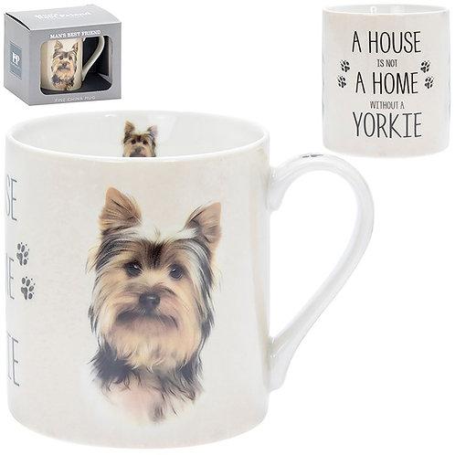 House and Home Fine China Mug - Yorkie
