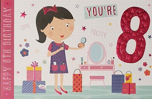 8th Female Birthday Card