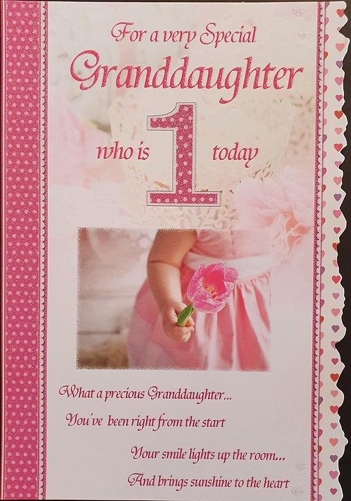 Granddaughter 1st Birthday Card