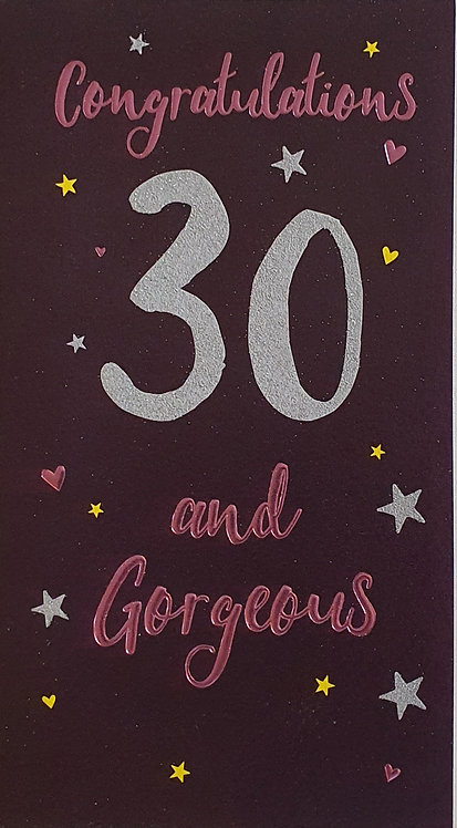 30th Female Birthday Card