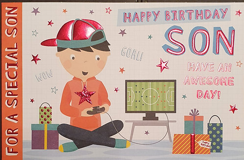 Juvenile Son Birthday Greeting Card
