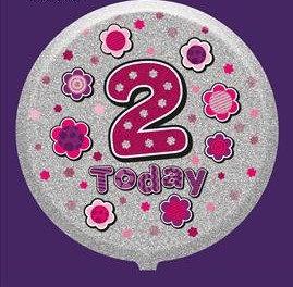 Female 2nd Birthday Balloon - Helium Filled
