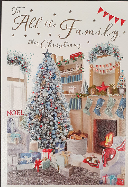 To All The Family Christmas Greeting Card With Tree