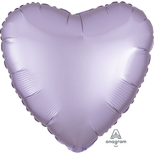 """18"""" Pastel Lilac Heart -  Anagram Balloon - Helium Filled"""