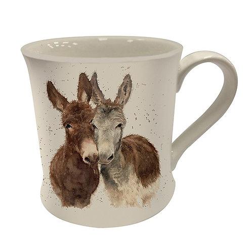 Bree Merryn Fine China Mug Jack & Diane Donkeys