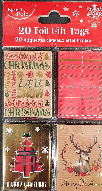 Foil Christmas Gift Tags