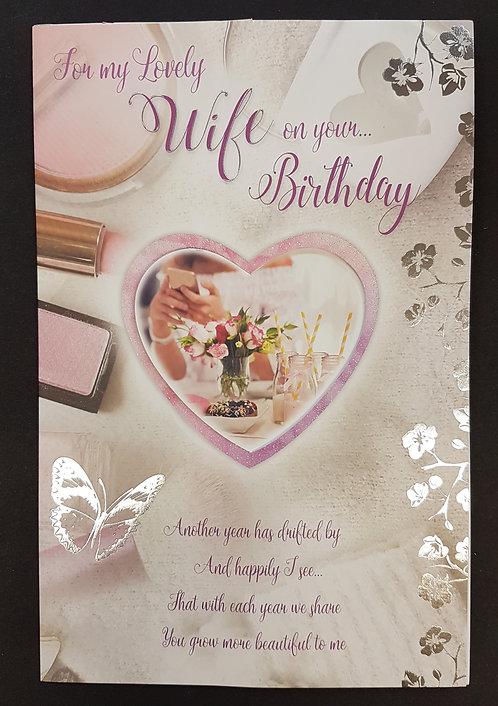 Wife Birthday Heart Popper Greeting Card