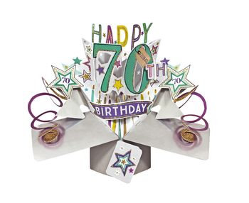 70th - Stars Pop Up Greeting Card