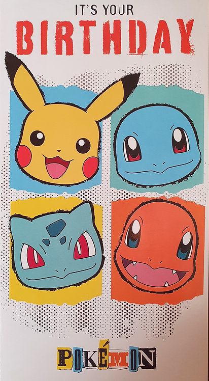 Birthday Greeting Card - Pokemon