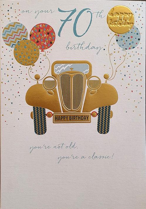 70th Male Birthday Card