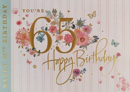 65th Birthday Greeting Card