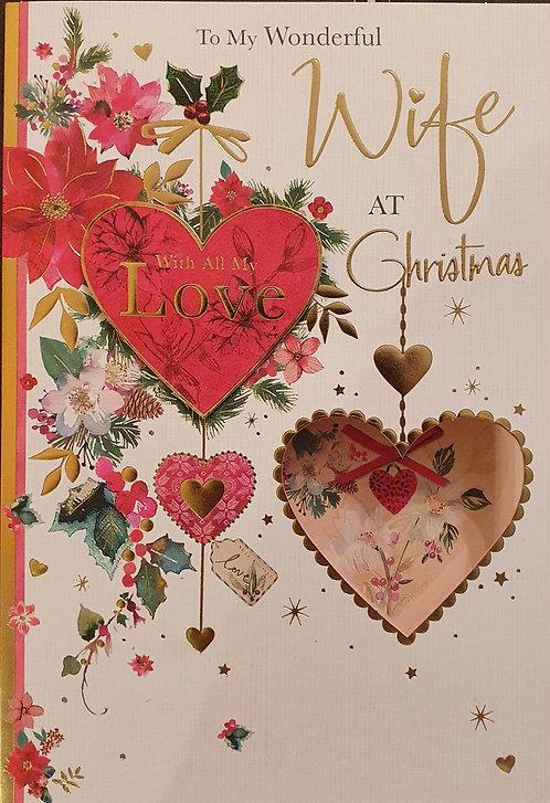 Wife Christmas Greeting Card