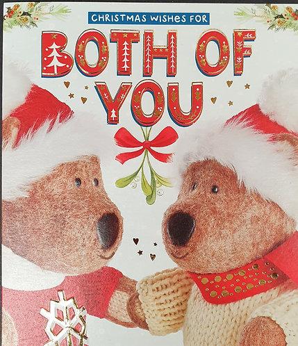 For Both Of You Christmas Greeting Card Barley Bear