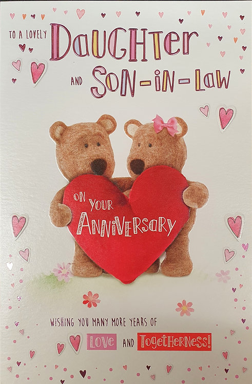Daughter & Son-in-Law Anniversary Greeting Card Front