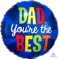"""18"""" Dad You're The Best Balloon - Helium Filled"""