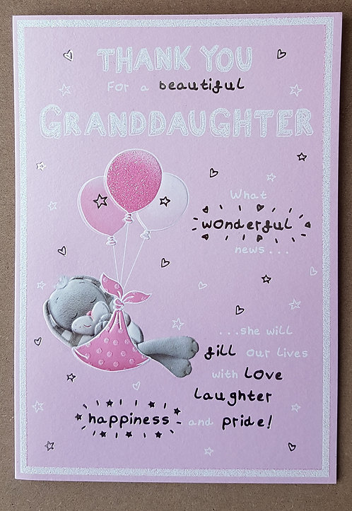 Thank You for a Beautiful Granddaughter - Greeting Card