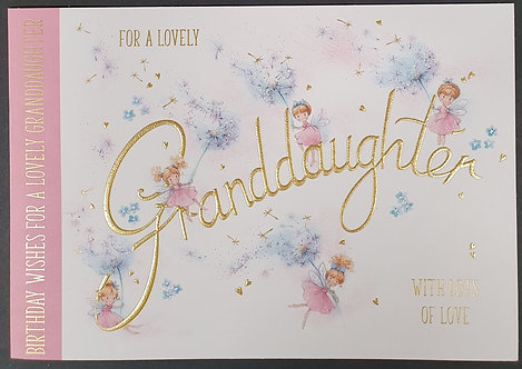 Granddaughter Birthday Greeting Card With Fairies
