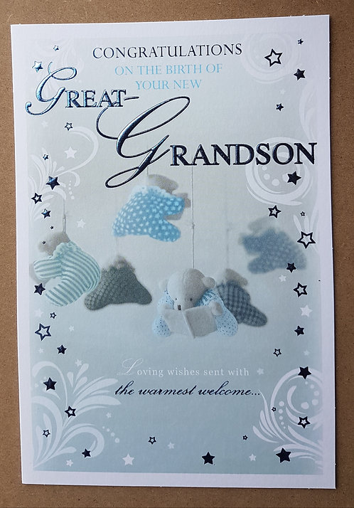 Birth of Your Great-Grandson - Greeting Card