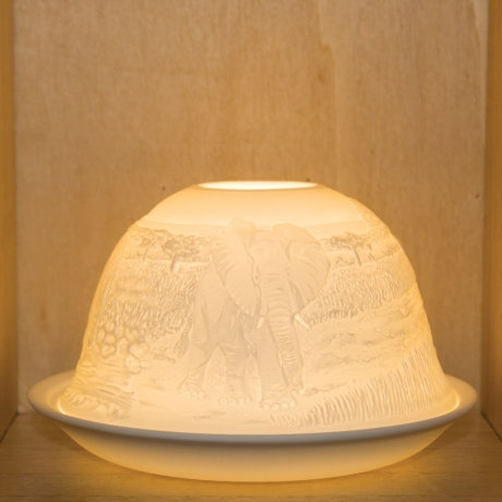 Nordic Light Candle Shade With Elephants