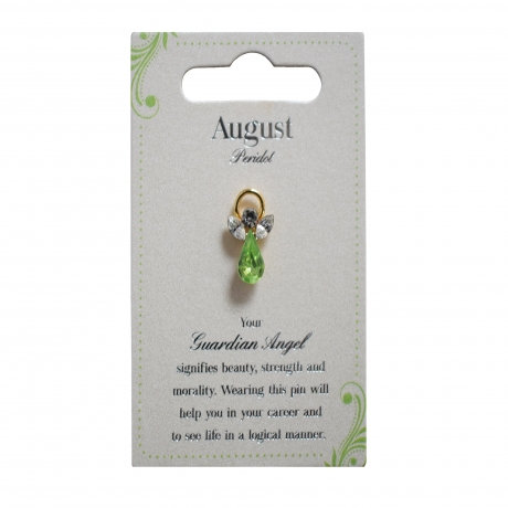 Guardian Angel Pin - August