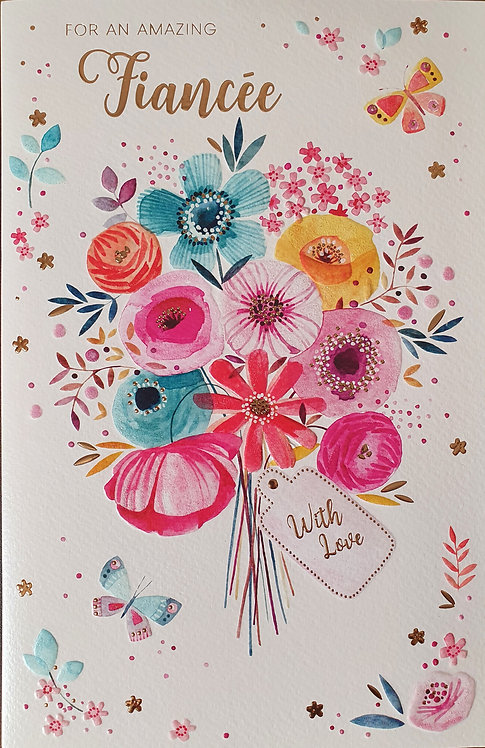 Fiancee Birthday Greeting Card