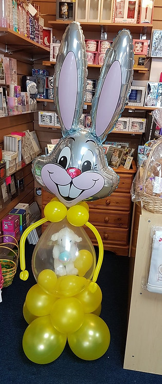 Easter Bunny Balloon with Teddy