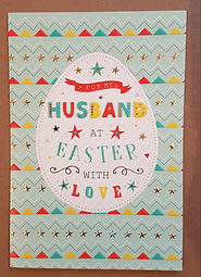 Easter Greeting Card For Husband