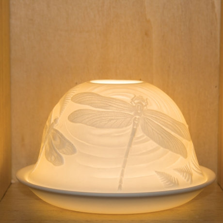 Nordic Light Candle Shade With Dragonfly