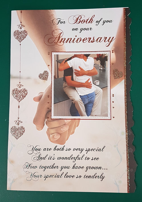 Male On Your Anniversary Greeting Card
