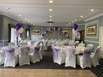 wedding chair covers and sashes at Carlton Park
