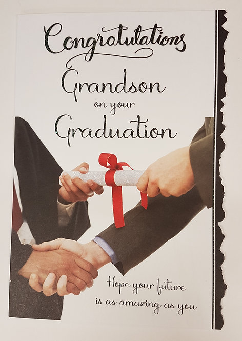 Graduation Greeting Card - Grandson