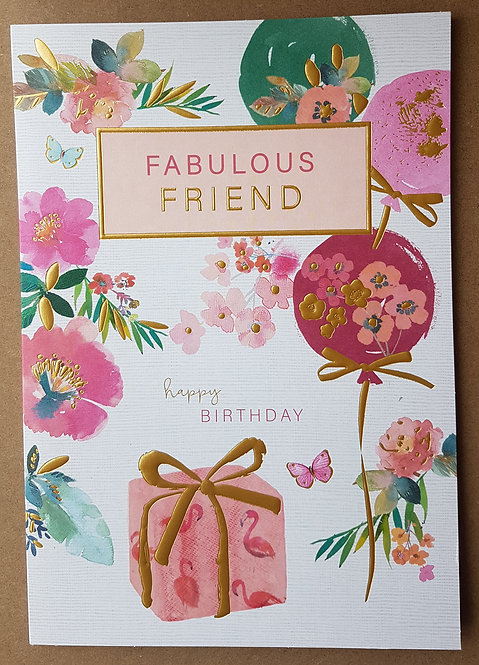 Female Birthday Greeting Card - Friend