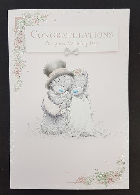 Wedding Day - On Your Wedding Me to You Greeting Card