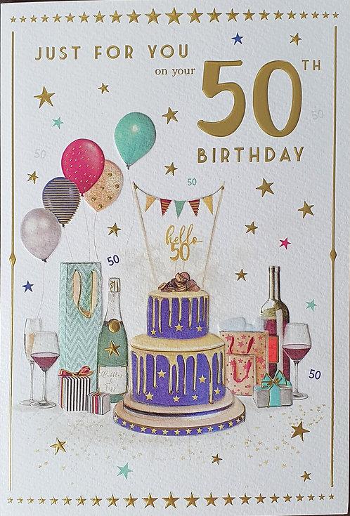 50th Male Birthday Card