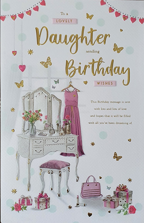 Daughter Birthday Greeting Card