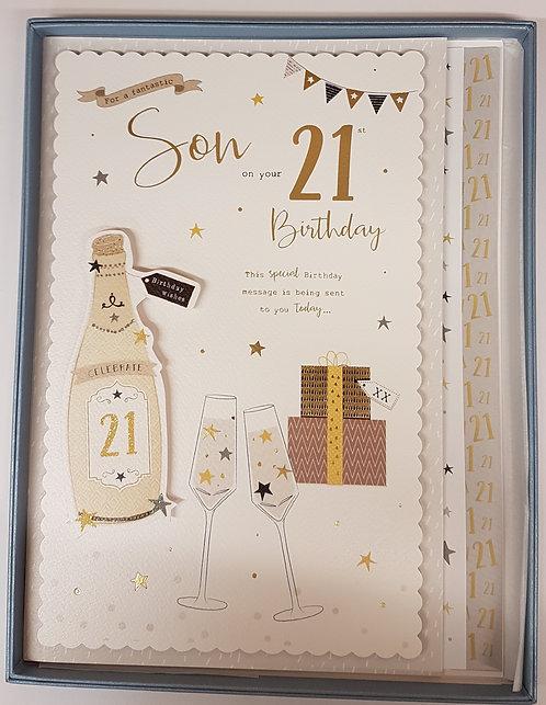 Son 21st Birthday Boxed Card