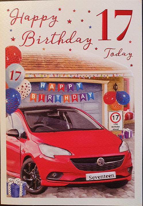 17th Male Birthday Card