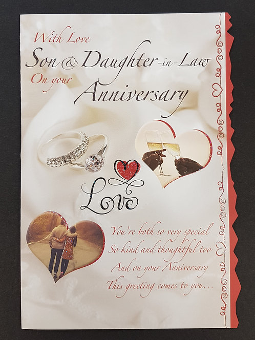 Anniversary - Son & Daughter-in-Law Greeting Card
