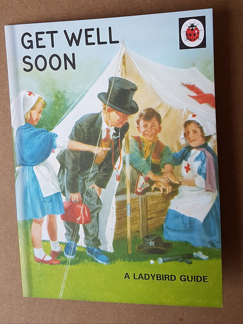 Ladybird Guide Get Well Soon Greeting Card