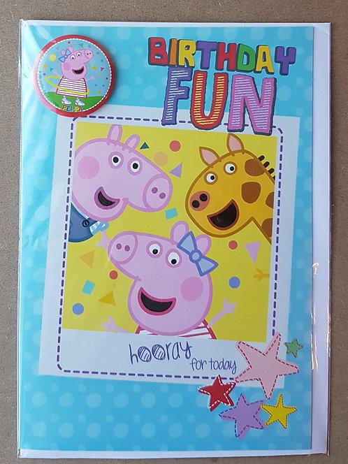 Birthday Greeting Card - Peppa Pig